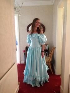 fake bridesmaid dress