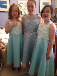 pre-teen and teen bridesmaids