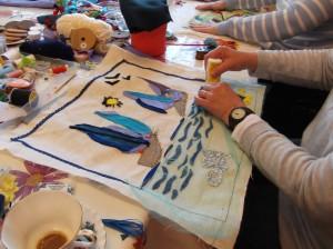 creative textiles workshop sailing boats