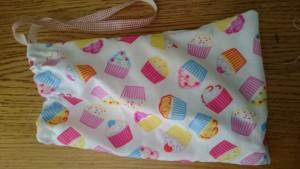 cupcake ballet shoe bag